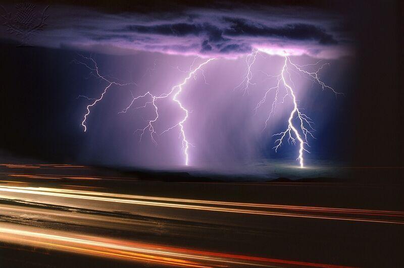 A summer monsoon thunderstorm