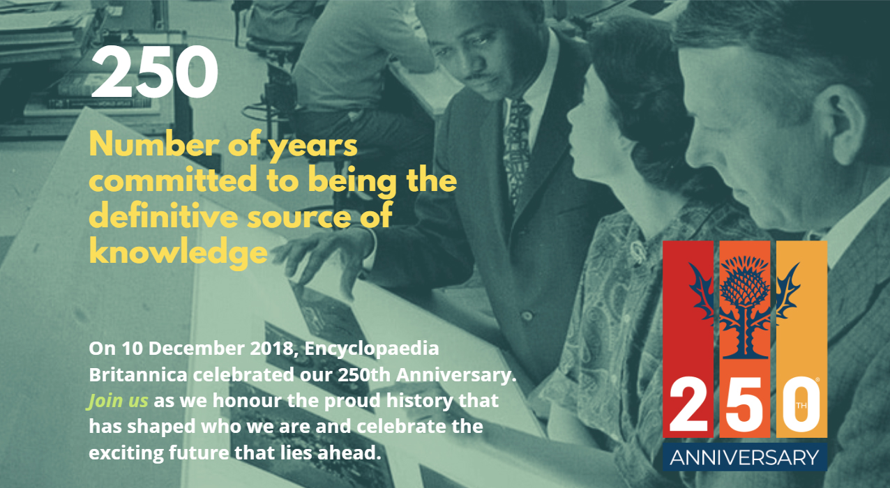 250: Number of years committed to being the definitive source of knowledge