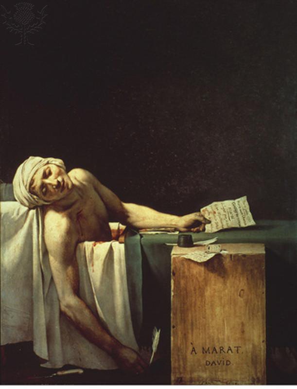 The Death of Marat, Jacques-Louis, 1793