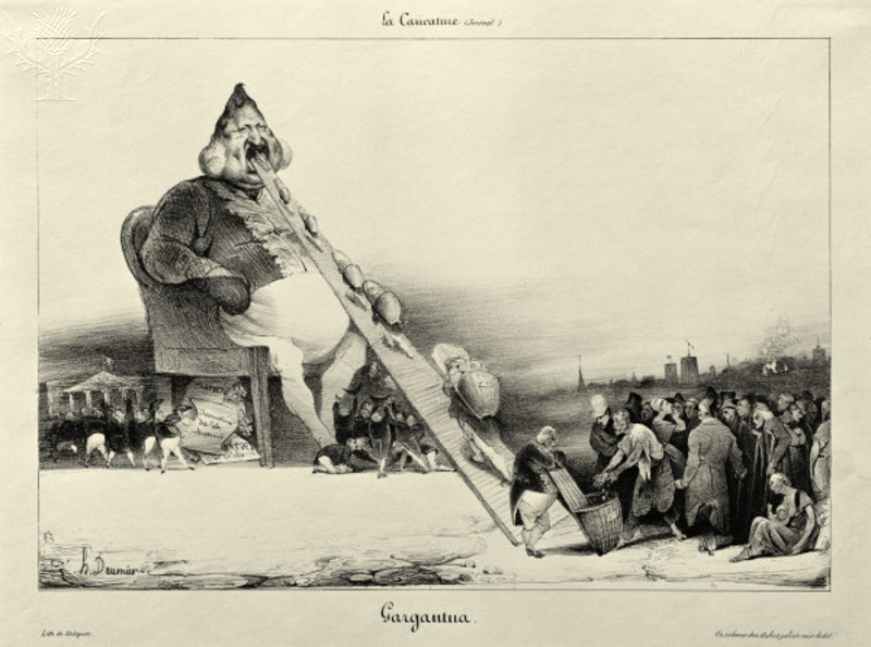 Louis Philippe I as Gargantua