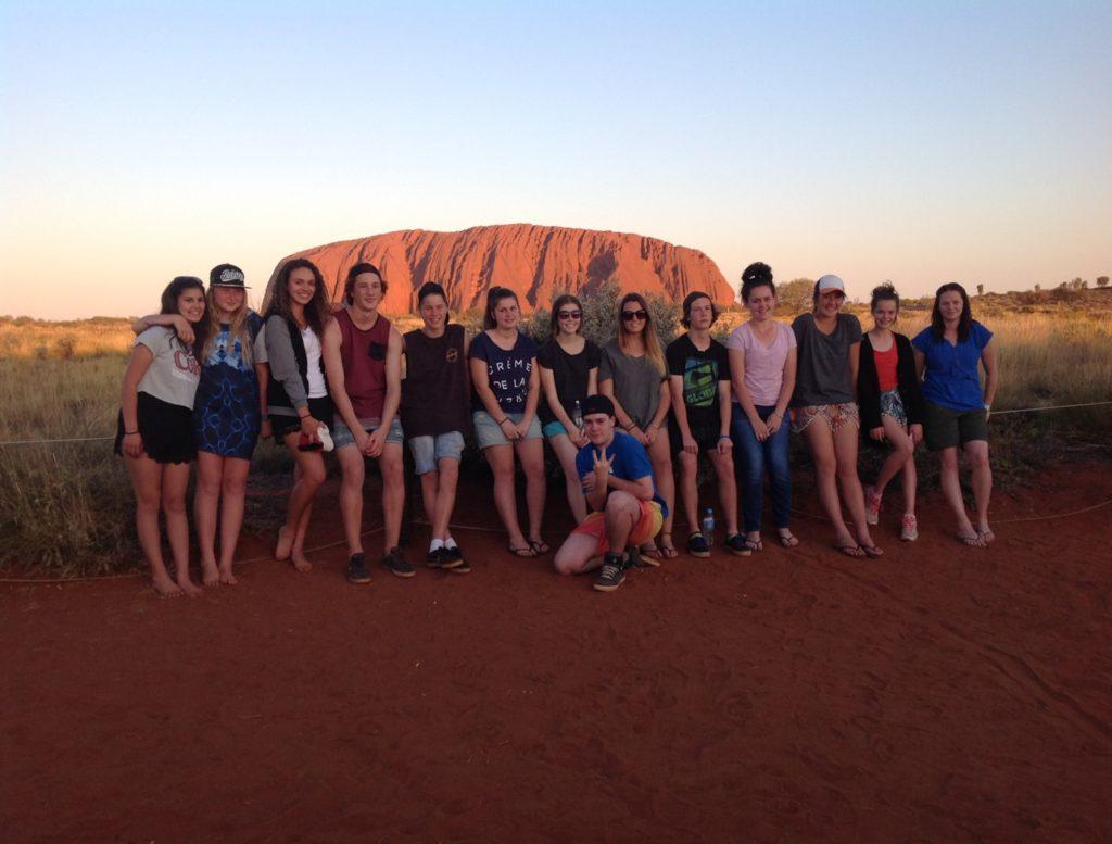 Aboriginal Students at Uluru