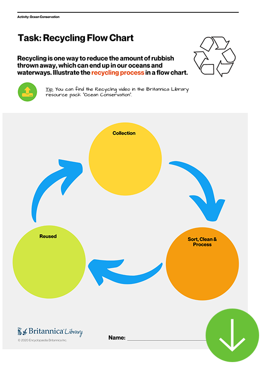 Ocean Conservation - Recycling Workflow Worksheet