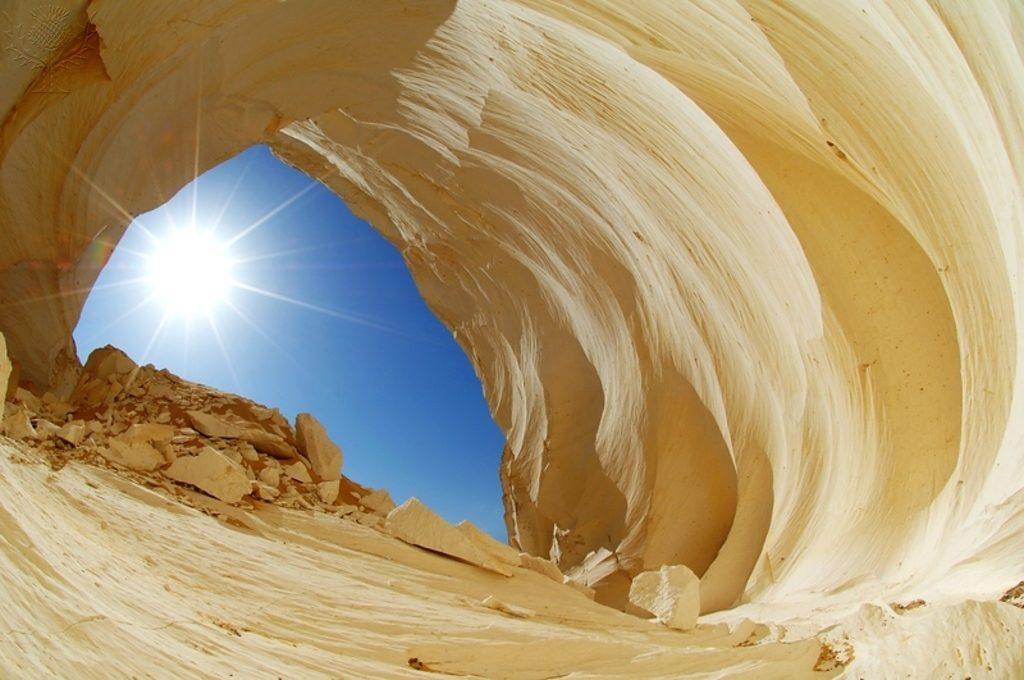 Rock archway, White Desert