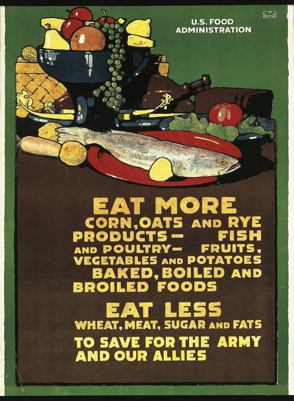 war poster: eat more corn