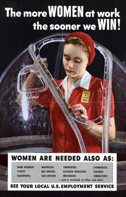 war poster: more women at work