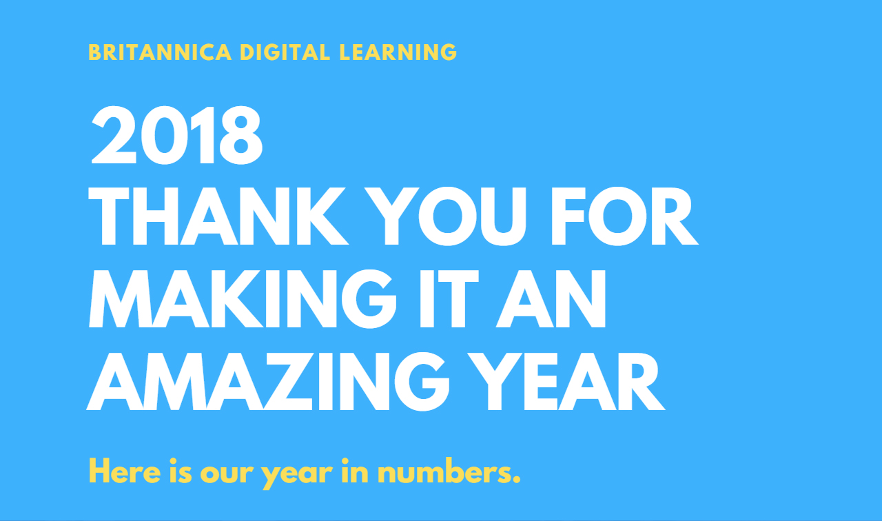 2018 - Thank you for making it an amazing year
