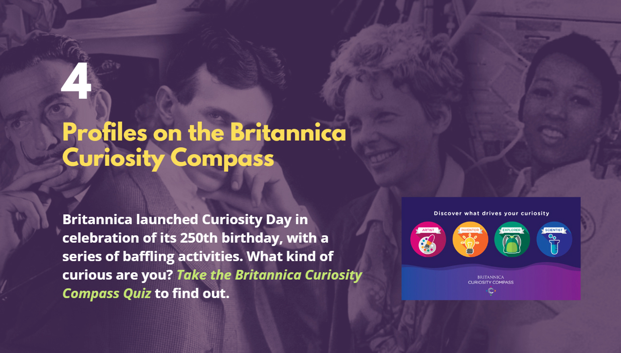 4: Profiles on the Britannica Curiosity Compass