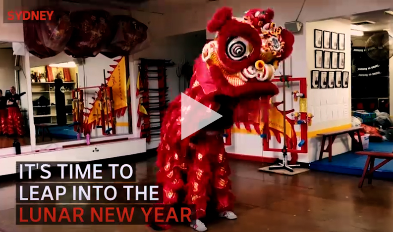 ABC Chinese lion dance video
