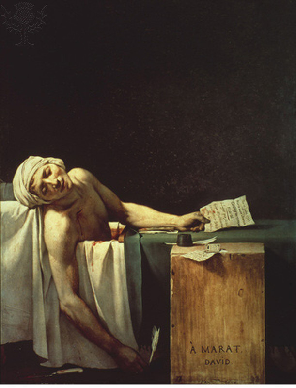 The Death of Marat, Jacques-Louis, 1793