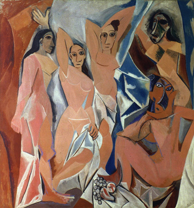 Les Demoiselles - d'Avignon, Pablo Picasso, 1907
