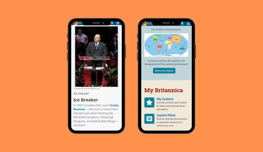 Britannica School UI Update - Moblle