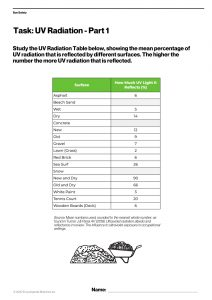 Britannica Worksheet - UV Radiation